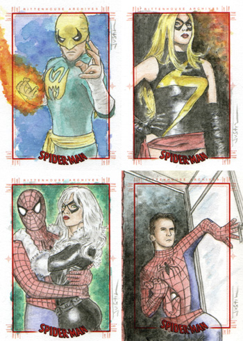 Justin Chung Spider-Man Archives Sketch Cards