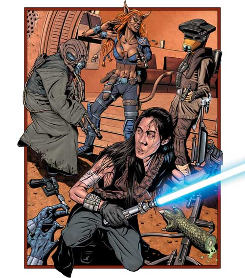 Star Wars Insider #89: Kai Justiss engages the Crimson Nova band of bounty hunters