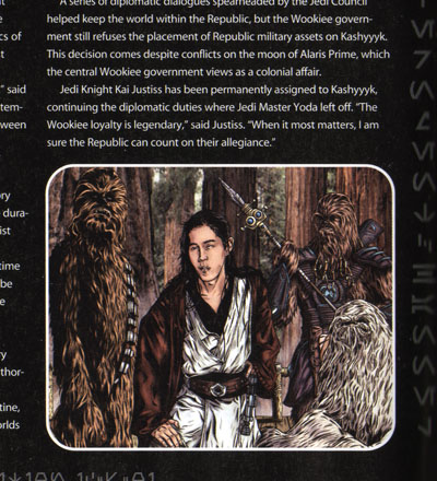 Star Wars Insider #71: Succeeding Yoda, Kai Justiss continues diplomatic duties as Jedi Watchman of Kashyyyk