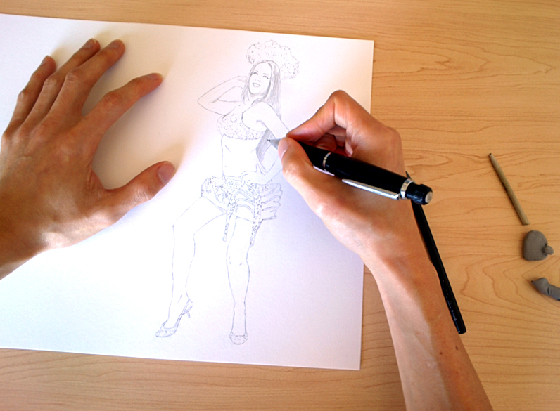 Justin Chung - Drawing Dana's Pin-Up